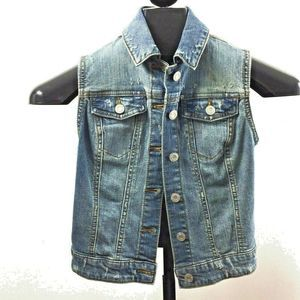Mossimo Supply Co Womens XS Vest Distressed Jean